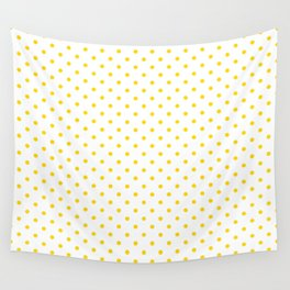 Dots (Gold/White) Wall Tapestry