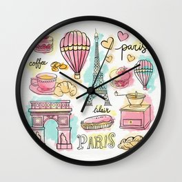 Paris Elements Wall Clock