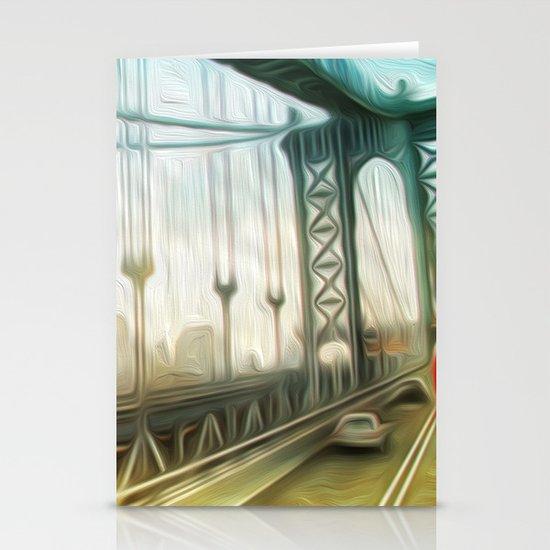 manhattan bridge morning Stationery Cards