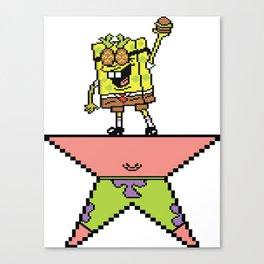 Spamilton Squaxander (16 Bit) Spongebob Alexander Hamilton #society6 Canvas Print