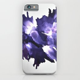 Purple Rorschach - Alcohol Ink Painting iPhone Case