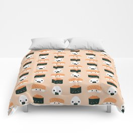 Salmon Dreams in peach, large Comforters