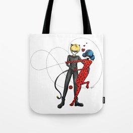 Ladybug and Chat Noir by Studinano Tote Bag