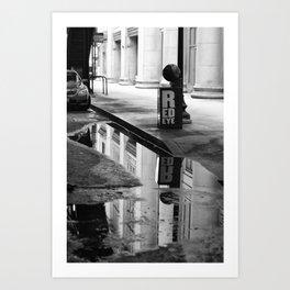Streets Noir Art Print