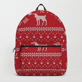 Christmas Pattern Snowflake V5 Backpack