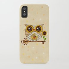 Owl's Autumn Song Slim Case iPhone X