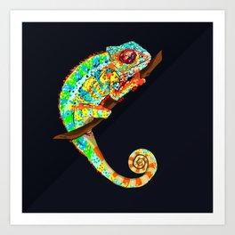Color Changing Chameleon Art Print