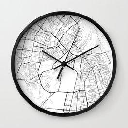 Copenhagen Denmark Street Map Minimal Wall Clock