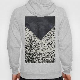 Black ivory confetti watercolor geometrical Hoody