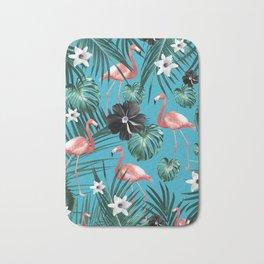 Tropical Flamingo Flower Jungle #2 #tropical #decor #art #society6 Bath Mat