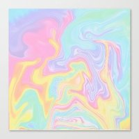 funky Canvas Prints featuring Funky by Pink Berry Patterns