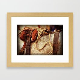 Ropes and Harness Framed Art Print