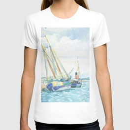 Marine Scene (Boats near Venice) by Henri-Edmond Cross1903, French T-shirt