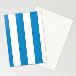 Sea Breeze Large Blue and White Vertical Stripes Stationery Cards