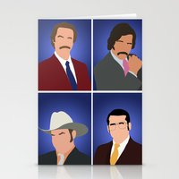 anchorman Stationery Cards featuring News Team Assemble - Anchorman by Tom Storrer