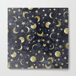 Midnight Stars Metal Print