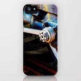 Steam Engine Locomotive Piston, Main Rods iPhone Case