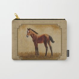 Bay Quarter Horse Foal Carry-All Pouch