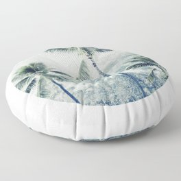 Reef palms Floor Pillow