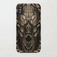 demon iPhone & iPod Cases featuring demon by Mr Grin