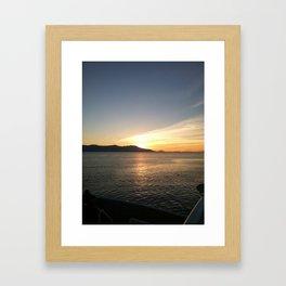 Sunrise over Water Framed Art Print