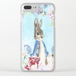 Hoppy The Bunny Clear iPhone Case
