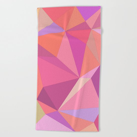 Triangle abstract Beach Towel