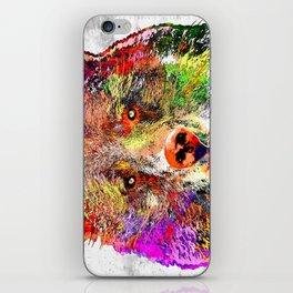 Bear Watercolor Grunge iPhone Skin