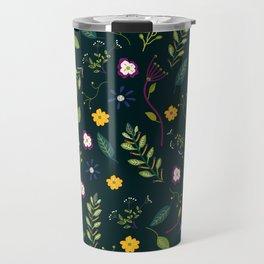 Floral Greenery Pattern I Travel Mug