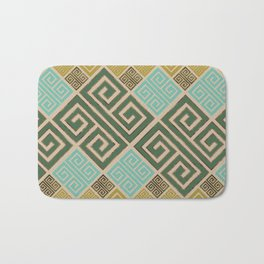 Meander Pattern - Greek Key Ornament #6 Bath Mat