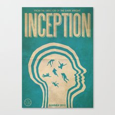 Inception Fan Art Poster Canvas Print