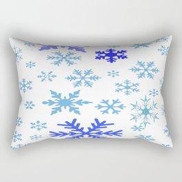 BLUE & PURPLE WINTER SNOWFLAKES  DESIGN Rectangular Pillow