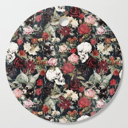 Vintage Floral With Skulls Cutting Board