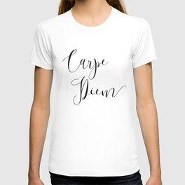 Carpe Diem Minimalist Art Print T-shirt