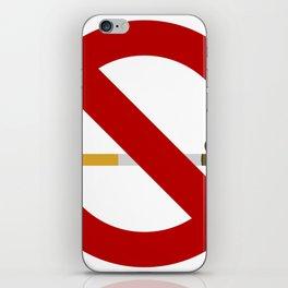 no smoking sign iPhone Skin