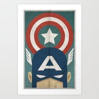 Star-Spangled Avenger Art Print