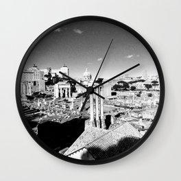 Rome in ruins Wall Clock