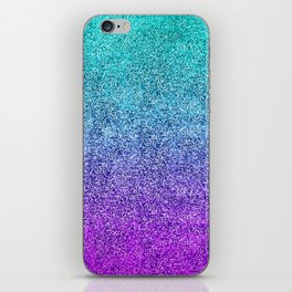 Tropical Twilight Glitter Gradient iPhone Skin