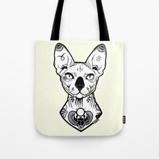 Sphynx Tattooed Tote Bag