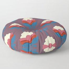 Retro fall florals- n. 2 Floor Pillow