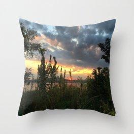 Orange on Long Dock Park - Beacon NY Throw Pillow