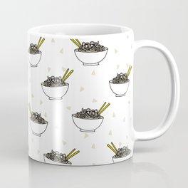 Noods pattern food kitchen asian noodle bowl illustration Coffee Mug