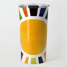 Sun Retro Art Travel Mug