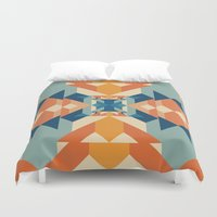 sacred geometry Duvet Covers featuring Sacred Geometry by defyeyes