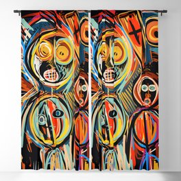 Anima Mia Street Art Graffiti Art Brut Blackout Curtain