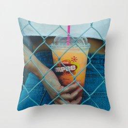 Summertime Slurpee Throw Pillow