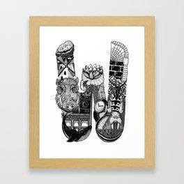 Letter W Framed Art Print