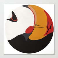 puffin Canvas Prints featuring Puffin by Black Toe