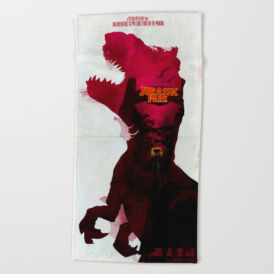 Inspired Movie Poster #2: Jurassic Park (1993) Beach Towel