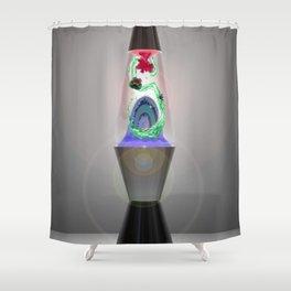 Lava Ferry Shower Curtain